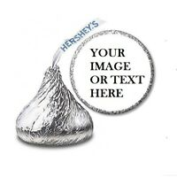 108 Personalized Hugs & Kisses Wedding Hershey Kiss Candy