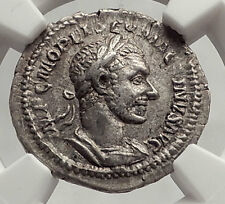 MACRINUS 217AD Rome Authentic Ancient Silver Roman Coin w FELICITAS - NGC i62486
