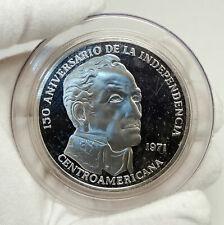 1971 PANAMA Huge 6.2cm Proof Silver 3.8oz 20 Balboas Coin w SIMON BOLIVAR i76338
