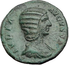 JULIA DOMNA Original 211AD Rome Authentic Ancient Roman Coin Hilaritas i64513
