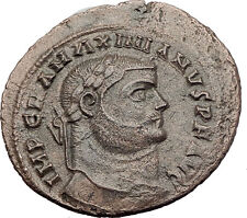 MAXIMIAN  295AD Big Follis Alexandria Authentic Ancient Roman Coin Genius i63193