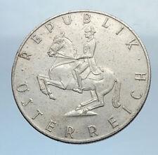 1960 AUSTRIA 5 Shilling Silver  Coin Austrian w HORSE RIDER Spanish i71962