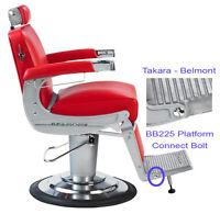 belmont barber chair parts pink desk chairs takara elegance bb 225 towel bar replacement bb225 platform footrest connecting bolt