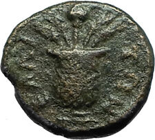 LUCIUS VERUS 161AD Elaia in Aeolis Authentic Ancient Roman Coin KALATHOS i66583