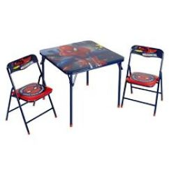 Spiderman Table And Chairs Chair Drink Holder Marvel Play Tables Ebay New Kids 2 Set Toddler Child Spider Man