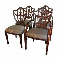 Maitland Smith Dining Chairs Best Office Chair For Bad Back Ebay Carved Mahogany Shield Set Of 4