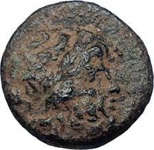 ANTIOCHOS I Soter 281BC Seleukid RARE R2 Ancient Greek Coin THUNDERBOLT i67982