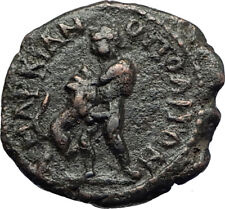SEPTIMIUS SEVERUS Marcianopolis Roman Coin HERCULES NEMEAN & LION LEO i70779
