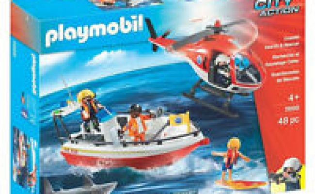 Playmobil 4428 Soccorso Elicottero Barca Set Ebay