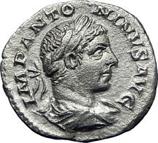 ELAGABALUS 218AD Authentic Ancient Silver Roman Coin Laetitia Happy i70084