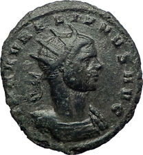 AURELIAN 272AD Authentic Silvered Ancient Roman Coin SOL SUN God i73437