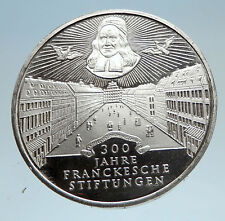 1998 GERMANY Francke Foundations Halle Genuine Proof Silver 10 Mark Coin i75152