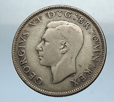 1941 United Kingdom Great Britain GEORGE VI Silver Florin 2Shillings Coin i66844
