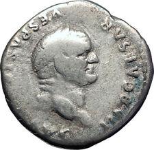 VESPASIAN 75AD Rome Authentic Ancient Genuine Silver Roman Coin PAX PEACE i73395