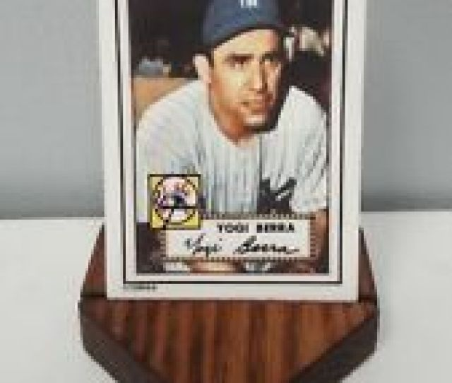 Yogi Berra New York Yankees Porcelain Baseball Card W Base 191 Topps