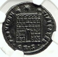 CONSTANTINE II Junior Authentic Ancient 324AD Roman Coin w CAMP GATE NGC i76302