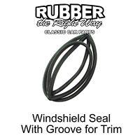 Datsun OEM Rubber Upper Door Seal Set, w/clips, 240Z 260Z