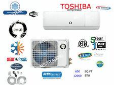 12,000 BTU Ductless Air Conditioner, Heat Pump Mini Split 110V 1Ton W/Kit & Wifi