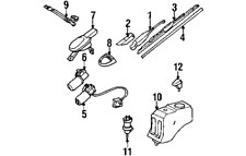 Windshield Wiper Systems for 2000 Mercedes-Benz C230 for