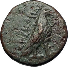 KYME in AEOLIS Athentic Ancient 320BC Original Greek Coin w EAGLE & VASE i71109