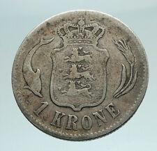 1875 DENMARK King Christian IX 25th Anniversary Silver 2 Kroner Coin i76643
