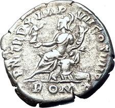 COMMODUS 184AD Rome Authentic Genuine Ancient Silver Roman Coin ROMA i73595