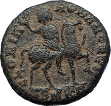 ARCADIUS on HORSE 392AD Constantinople Authentic Ancient Roman Coin i70253