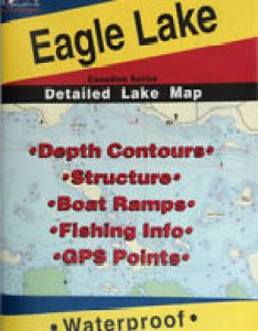 Eagle lake ontario detailed fishing map gps points waterproof depth also in charts  maps ebay rh