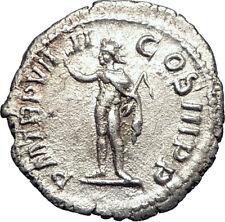 SEVERUS ALEXANDER 230AD Authentic Silver Ancient  Roman Coin SOL SUN i73385