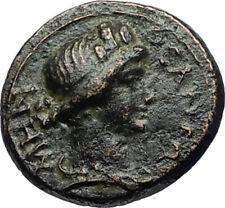 PERGAMON in Mysia 40AD Authentic Ancient Greek Coin ROMAN SENATE & ROMA i69547