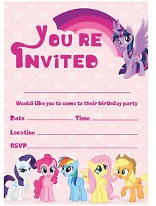 my little pony cards invitations for
