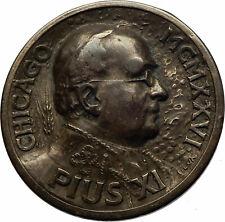 Chicago International Eucharistic Congress POPE PIUS XI Christian Medal i71752