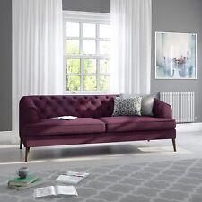 plum sofas uk old sofa trash purple ebay inez fabric 3 seater chesterfield sof034