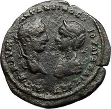 ELAGABALUS & JULIA MAESA Ancient 217AD Marcianopolis Roman Coin w HYGEIA i70791
