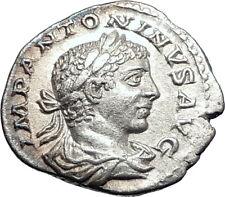 ELAGABALUS 219AD Rome Authentic Ancient Silver Roman Coin Providentia i73556