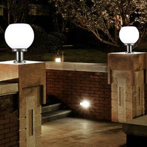 pillar lights in garden landscape