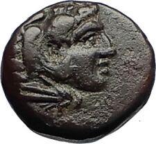 PERGAMON in MYSIA 310BC Authentic Ancient Greek Coin HERCULES & ATHENA i69656