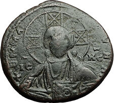 JESUS CHRIST Class A2 Anonymous Ancient 1025AD Byzantine Follis Coin i58910