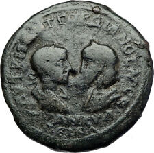 GORDIAN III & TRANQUILLINA 238AD Ancient Odessos Thrace Roman Coin TYCHE i71150