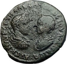 SEVERUS ALEXANDER & JULIA MAESA Ancient Marcianopolis Roman Coin w TYCHE i71054