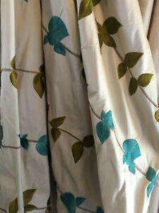 rideaux et voilages verts en tissu pour