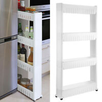 small narrow kitchen sliding storage
