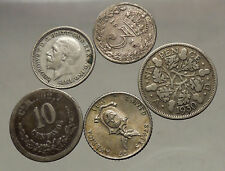 GROUP LOT of 5 Old SILVER Europe or Other WORLD Coins for your COLLECTION i53815