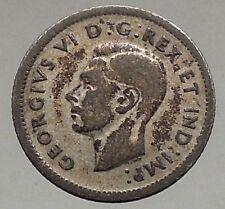 1939 CANADA King George VI - Silver 10 Cent SILVER Coin - BLUENOSE SHIP i56771