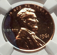1961 US Abraham Lincoln Memorial PROOF Penny 1 Cent Coin NGC Certified i70593