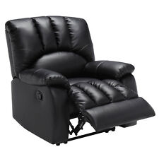 reclining chairs modern baby bath chair for tub wooden leather recliner ebay w pocketed comfort coils black rocker seat mainstays