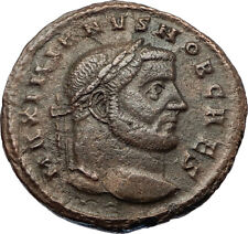 GALERIUS Authentic Ancient 298AD Authentic Ancient Roman Coin GENIUS i69185