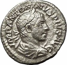 Elagabalus Bisexual Emperor 221AD Silver Ancient Roman Coin Forethought i54246