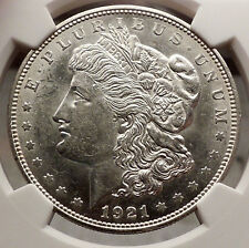 1921 D MORGAN SILVER DOLLAR United States of America USA Coin NGC MS 62 i57735