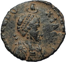 EUDOXIA Arcadius Wife 400AD Authentic Ancient Roman Coin HAND OF GOD i67022
